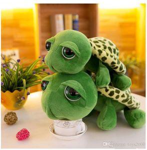 귀여운 큰 눈 거북이 인형 거북이 플러시 장난감 창조적 인 만화 거북이 입상 박제 된 동물 장난감 애니메이션 크리스마스 선물 도매