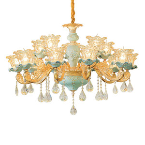 Oda Kristal Lamba Ev ışık Giyim Mağazası yatak odası kristal avizeler Yemek Seramik Avize Lüks Salon