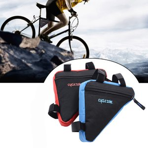 MTB Road Bicycle Bags Front Frame Triangle Bag Bicycle Beam Bag Waterproof Triangle Pouch Frame Holder Bicycle Accessories