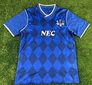 Retro classic Everton 1987 1988 soccer jerseys 87 88 Retro football shirt S-2XL