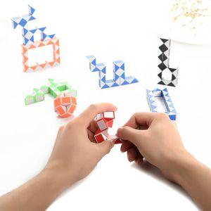 Mini Magic Cube Règle Serpent Forme Jouet 24 3D Cube Puzzle segments Twist Puzzle Toy Random Intelligence cadeaux Jeux SUPERTOP Cadeaux