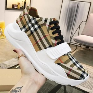 Hot Men Shoes Vintage Check Cotton Sneakers Chaussures pour hommes Athletic Footwears Men Fashion Shoes Type Rubber Soles Zapatos de hombre
