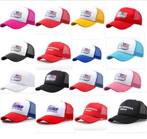 Voto gorra de béisbol Trump Keep America 2020 Gran gorro Donald Trump Snapbacks verano ajustable Beach Sports Ball Caps Visera Sombrero B5162
