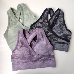 Nepoagym Seamless acolchoado Camo Empurre alta Bra Up Top Women Yoga Impacto Sports shirt T200326 Turke