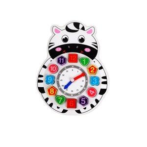 tiempo de animales niños Niños científica Cognition Reloj Educación Juguetes bebé de juguete de dibujos animados Aprendizaje Temprano cognición juguete para los niños