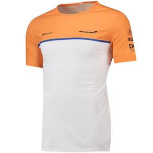 F1 McLaren McLaren 2020 de descenso Traje Norris hombres de cuello redondo de la camiseta de manga corta traje de carreras de secado rápido secado rápido transpirable Top Pers