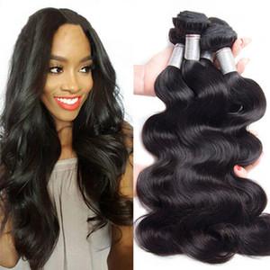 Вия 9Ы Камбоджийский Объемная волна волосы Плетение Связка Natural Color 100% человеческое плетение 1/3 шт 8-30inch выдвижение волос Remy