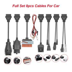 8pcs / set de cables de extensión del conector del carro del coche del OBD OBD2 OBD OBD2 a la herramienta de diagnóstico del coche del explorador auto de Scania para BMW escáner
