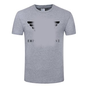 Armáni Mens Stylist T Shirt Mens Clothing Armáni Summer T Shirt Hip Hop Men Women Short Sleeve Size S-XXL