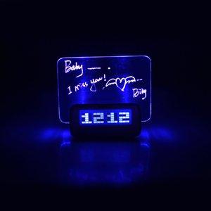 Digital-Wecker Message Board Elektronischer Wecker Temperatur Kalender Timer Blaulicht Tabellen-Ausgangsdekoration