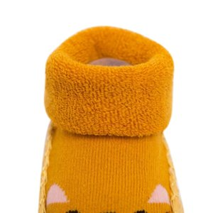 Newborn Toddler Indoor Sock Shoes Baby Winter Thick Cotton Baby Girl Sock With Rubber Soles Anti Slip Infant Cartoon Sock