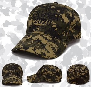 DHL Camouflage Trump Baseball Cap Outdoor Embroidery KEEP AMERICA GREAT 2020 Snapback Hats Unisex Travel Sport Causal Caps nd
