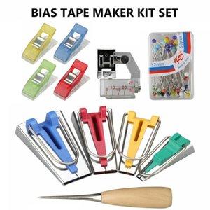 60Pcs Fabric Bias Binding Tape Maker Kit Binder Tool For Sewing Quilting AWL CA