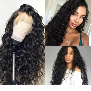 Carina LIN MAN Brazilian Remy Hair 360 Lace Frontal Human Wigs Natural Color Water Waves Wigs Pre-Plucked Natural Hairline Glueless Wigs