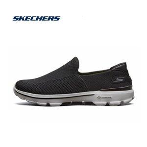 Свето Skechers Мужчины Мокасины Комфортабельных Люди обувь Купон на Spring мокасин Квартира Мягких дышащей повседневной обуви Мужчина 54057-BKGY
