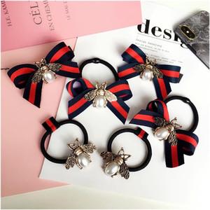 Bande accessori della Corea della lega di modo Bee Verdi Capelli Capelli rossi archi elastici Elastico forcine Hairgrips per le donne