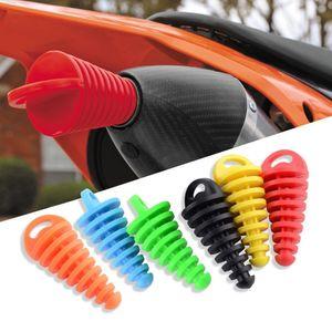 Moto di scarico Tappo del tubo del silenziatore Wash tappo del tubo Protector Motocross Tailpipe Plug Sposta blow-down Silenziatore PVC