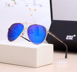 2105 # Yeni Sıcak DesignerSunglasses Yaz Erkek Polarize BrandGlasses Açık Casual Retro Güneş Gözlükleri Erkek Lüks Sunglass 7 Renk 2020432K