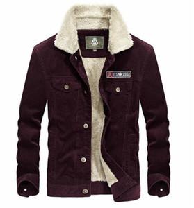 Plus Size Solid Color Mens dicken Mantel Einreihig Langarm Outwear Mode Corduroy Mens Tops