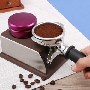 Macaron Stainless Steel Coffee Tamper Coffee Espresso Flatten Powder Pressure Hammer Adjustable Distribution Tool Free Shipping ZA2379