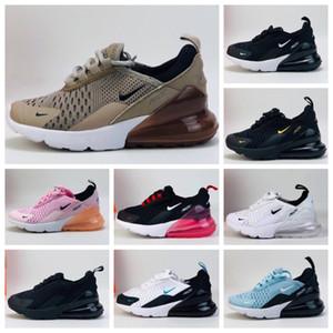 Nike air max 270 Crianças Athletic Shoes Crianças tênis de basquete lobo cinzento criança Esporte Sneakers Boy menina da criança Chaussures Pour Enfant EUR 22-35