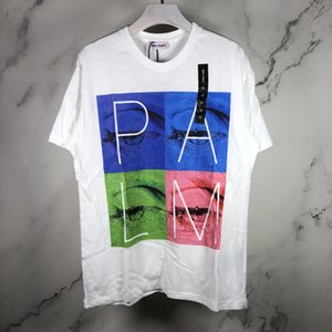 2020SS spring and summer new Palm PA Angels square eyes color stitching printing men and women casual short-sleeved T-shirt