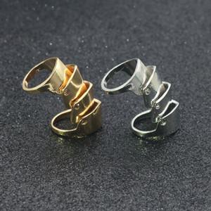 Frauen höhlen Hyperbel Verformung unregelmäßigen Knuckle Midi Finger-Spitze-Stacking-Verbindungs-Ring