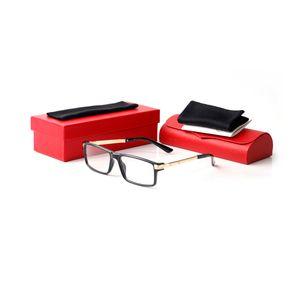 marcos ópticos de búfalo de la moda gafas de cuerno marco de los vidrios del rectángulo gafas marcos hombre unisex de alta calidad caja de vidrios y Box