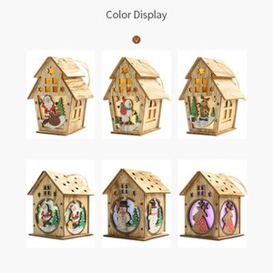 Cabin With Lights Christmas Pendant Creative Christmas Tree Ornament Christmas Decoration Diy Small House