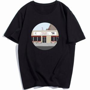 Satriales Sopranos Tshirt Uomini Dramma Tv Series Bada Bing Tony maglietta del cotone puro 2020 all'ingrosso