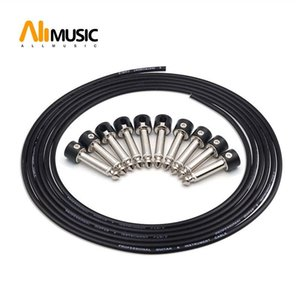 납땜 연결 디자인 기타 케이블 DIY 기타 페달 패치 케이블 키트 (10) 납땜 블랙 캡 플러그 3M 케이블 및 커터