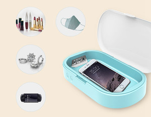 Box Portátil Esterilizador UV Caso Sanitizer Box Desinfecção Máquina de revestimento para máscara Telefone Relógios Óculos Roupa interior escova de dentes LJJA3982