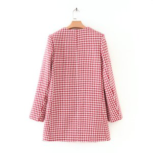 2019 Western Style Early Autumn New Style Small Fresh Xinfeng Simple Thousands of Birds Coat 020-19150