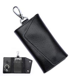 Wallets Mini Card Bag Genuine Leather chain Men Women Key Holder Organizer Pouch Cow Split Car Key Bag Wallet Housekeeper Key Case