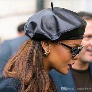 Top de haute qualité Designer Chapeaux de fille Casquettes mode des femmes des hommes de luxe Cap Noir en cuir en peau de mouton Mode dame Chapeaux New Hot Arrived
