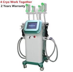 Nouvelle arrivée à 360 degrés de refroidissement 5 Poignées Cryo cryothérapie Minceur Cryolipolisis machine à vide Liposuccion congelés Fat dissolvantes Équipement
