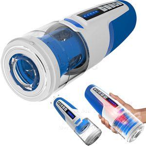 New Leten Elektro MannesMasturbator Automatische Teleskop Rotation Kolben saugen Vibrator Stimme Sex Machine Oral Sex-Spielzeug für Männer Y191026
