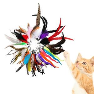20 disegni Gatto gatto giocattolo Teaser Ricambio Head divertente Cat Stick fai da te gattino Pet Interactive Toys Toys Fidget con Bell