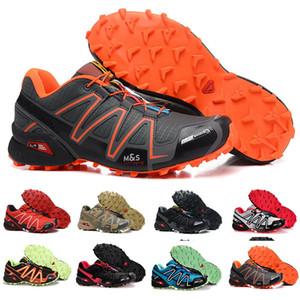 Marka Outlet UK Solomons Speedcross 3 CS Trail rahat ayakkabı erkekler Hafif Sneakers Donanma Solomon III Zapatos Su geçirmez Spor Ayakkabıları