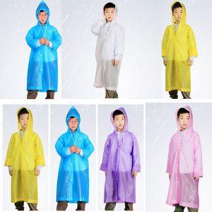 الأطفال معطف واق من المطر سميكة طحن رملي غير المتاح معطف واق من المطر E-ودية للأطفال مقنع معطف المطر للجنسين في الهواء الطلق التخييم ملابس ضد المطر YP359