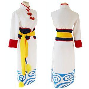 Gintama Kagura Cosplay Cheongsam 복장 성인의 할로윈 의상 여성을위한