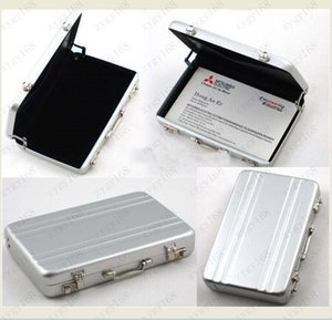 Hot sales ID Holders Password Aluminium Credit Card Holder Mini Briefcase Business Card Case Free shipping