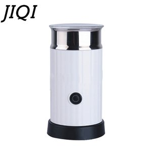 DMWD Automatic Electric Milk Frother Hot Cool Frothing Creamer Foamer DIY Fancy Cappuccino Coffee Latte Bubble Foam Maker Heater