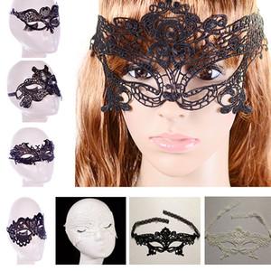 Máscaras del partido atractivo del cordón nuevo de las mujeres señoras de las muchachas de Halloween cosplay de Navidad de la mascarada del baile de San Valentín media mascarilla HH-M01