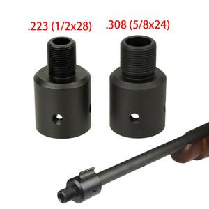 알루미늄 러스터 1022 10/22 총구 브레이크 어댑터 1 / 2x28 5 / 8x24 .750 배럴 엔드 스레드 프로텍터 콤보 .223 .308
