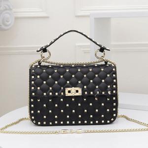 Borse catena della spalla borsa dei raccoglitori di vendita calda i più nuovi Vera Pelle Normale Rivet modello del diamante di alta qualità di stile di modo delle donne della borsa