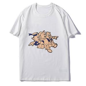 Cartoon Pig Famous Men Stylist maglietta nuove donne degli uomini di alta qualità di stampa manica corta Moda Uomo Stylist Tees S-2XL