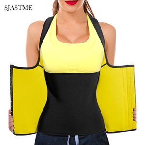 SJASTME donne della vita del neoprene Trainer maglia del corsetto Canotta Sauna Body Shaper sudore della maglia di allenamento Top Slim Shapewear