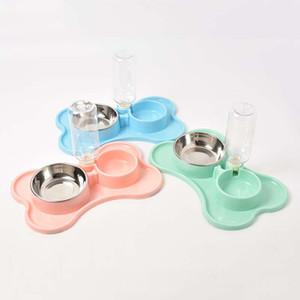 Pet Köpek Büyük Kapasiteli Dağıtıcı Çanaklar VT1537 T03 Besleme Bowl Köpek Kedi Çift Gözlü Gıda Suyu İçme Cat İçme Hayvan Otomatik Besleyici