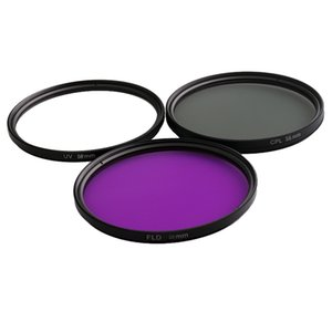 58mm Multi Coated Glass Filters Kit: UV+CPL+FLD объективный фильтр для Canon